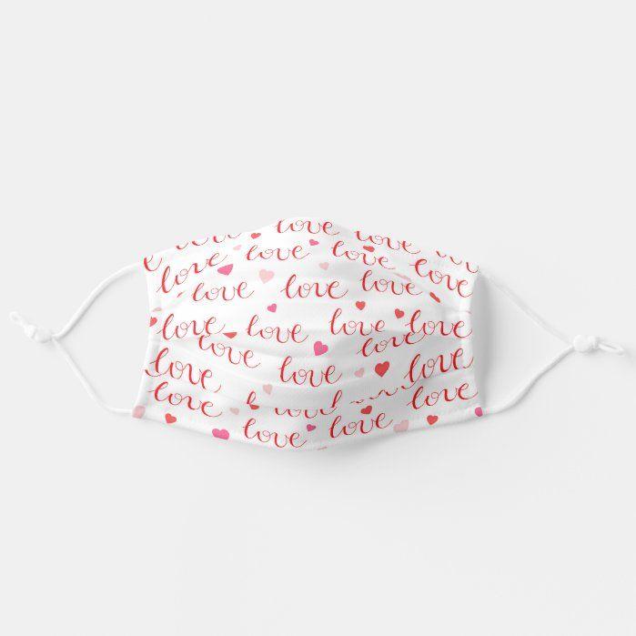 Valentine's Day Love Love Hearts Washable Reusable