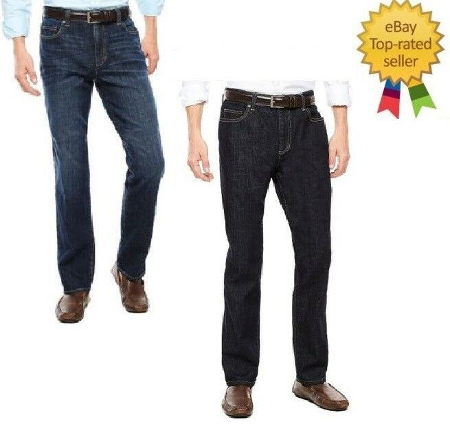 42 40 Mens Croft /& Barrow Classic-Fit Flannel-Lined Jeans Dark Denim Sizes 38