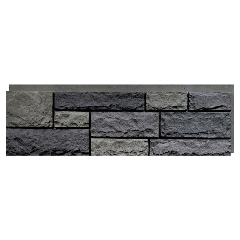 Nextstone Random Rock Mountain Shadow 15 5 In X 48 In Faux Stone