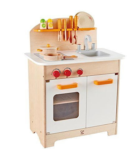Melissa And Doug Wooden Chef's Pretend Play Toy Kitchen