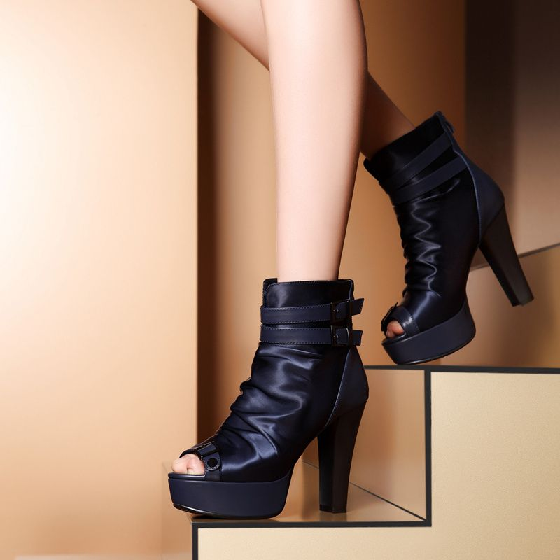 Zapatos negros Playshoes para mujer V27mF
