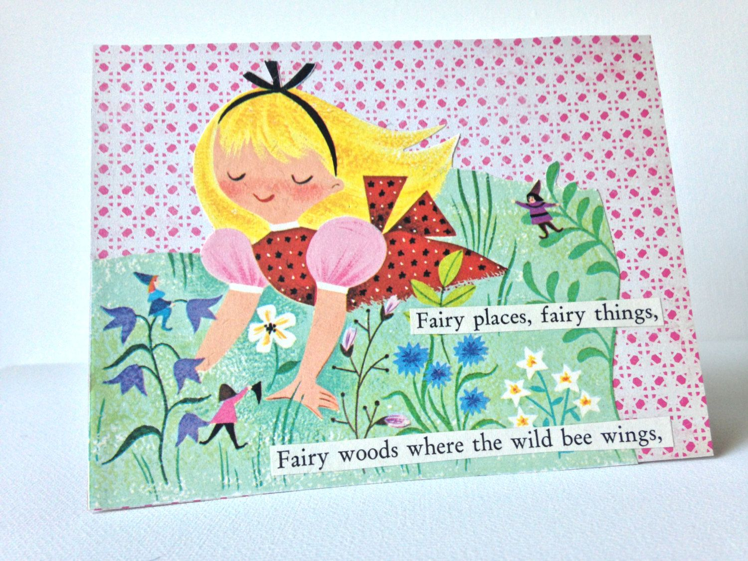 Greeting Card Handmade Card Any Occasion Young Girl Fairies