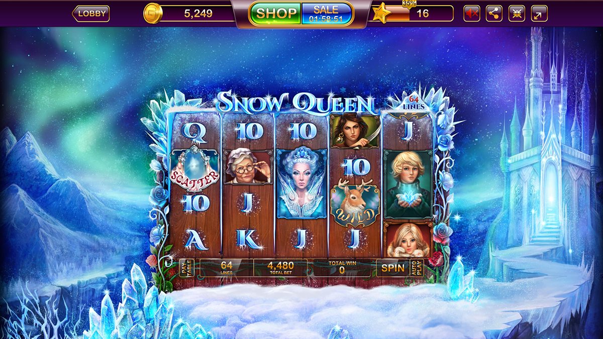 Snow Queen slot on Behance Snow queen, Free casino slot