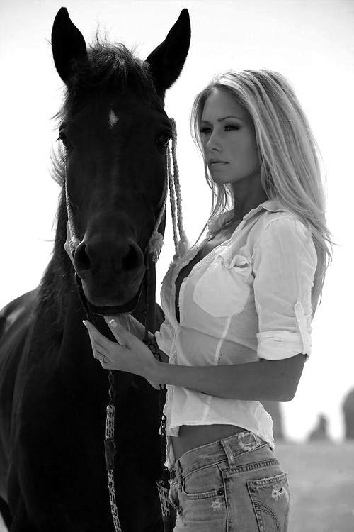 Резултат со слика за blck and white fotografy womanwith horse