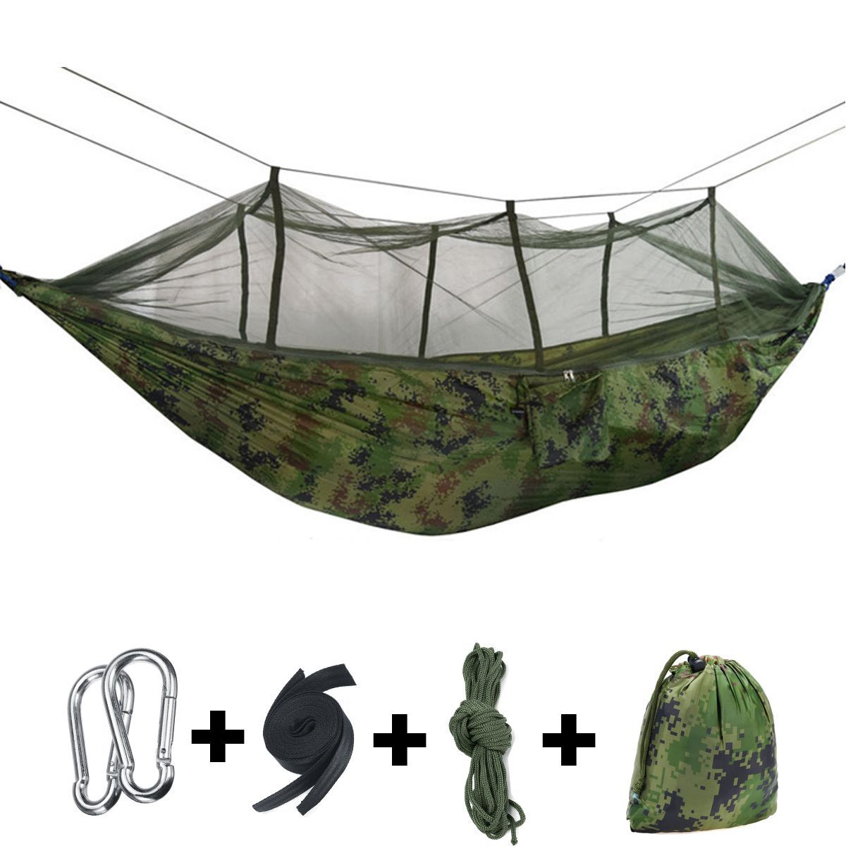 Ipree® 2 person camping hammock tent with mosquito net