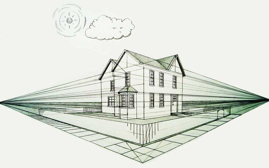 2 Point Perspective House 6