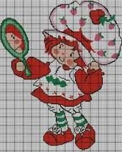 Resultado de imagen de punto cruz strawberry