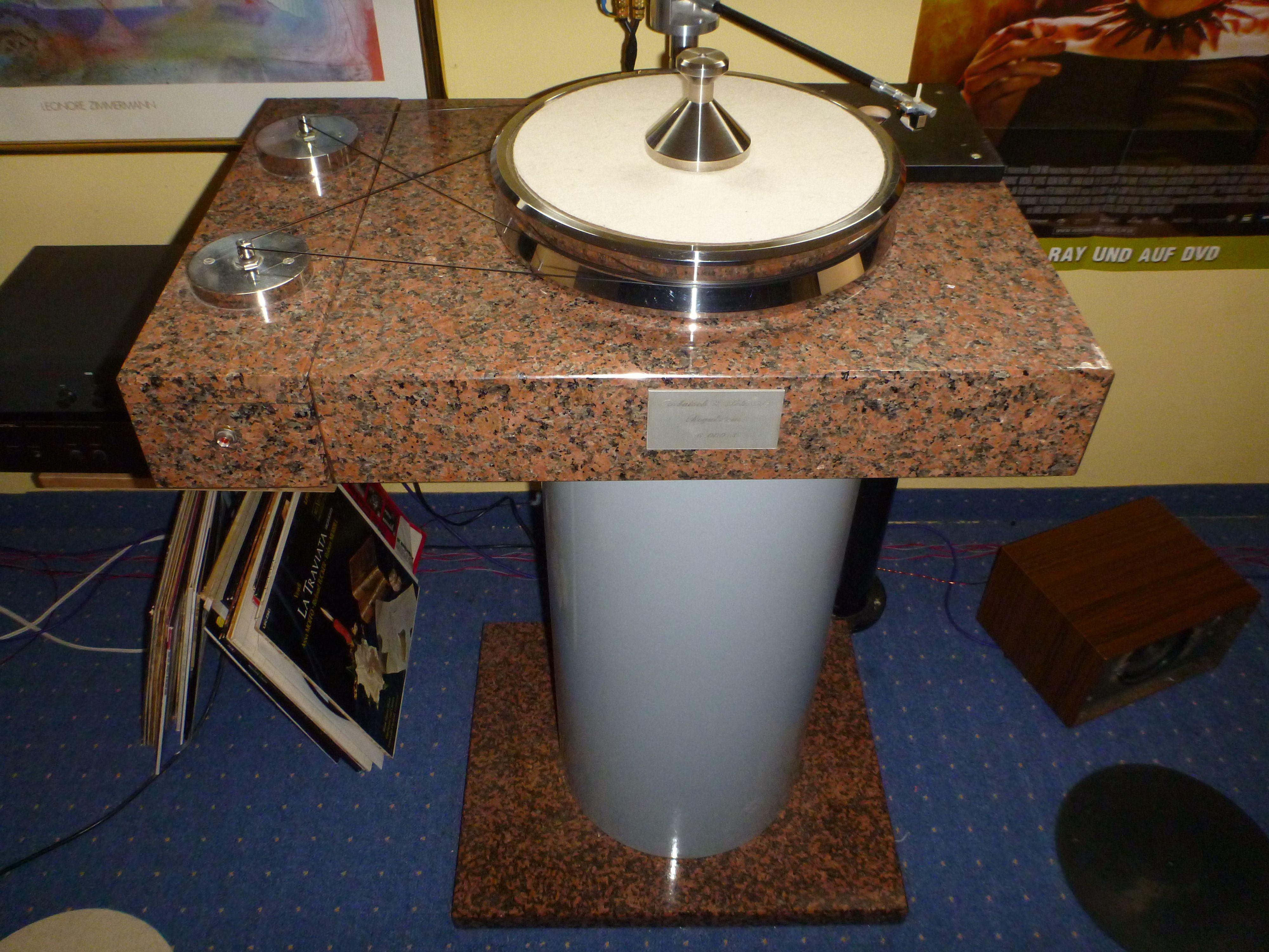 Granit Monster 50 Kg Teller Vinyl Jewelry Audiophile Turntable