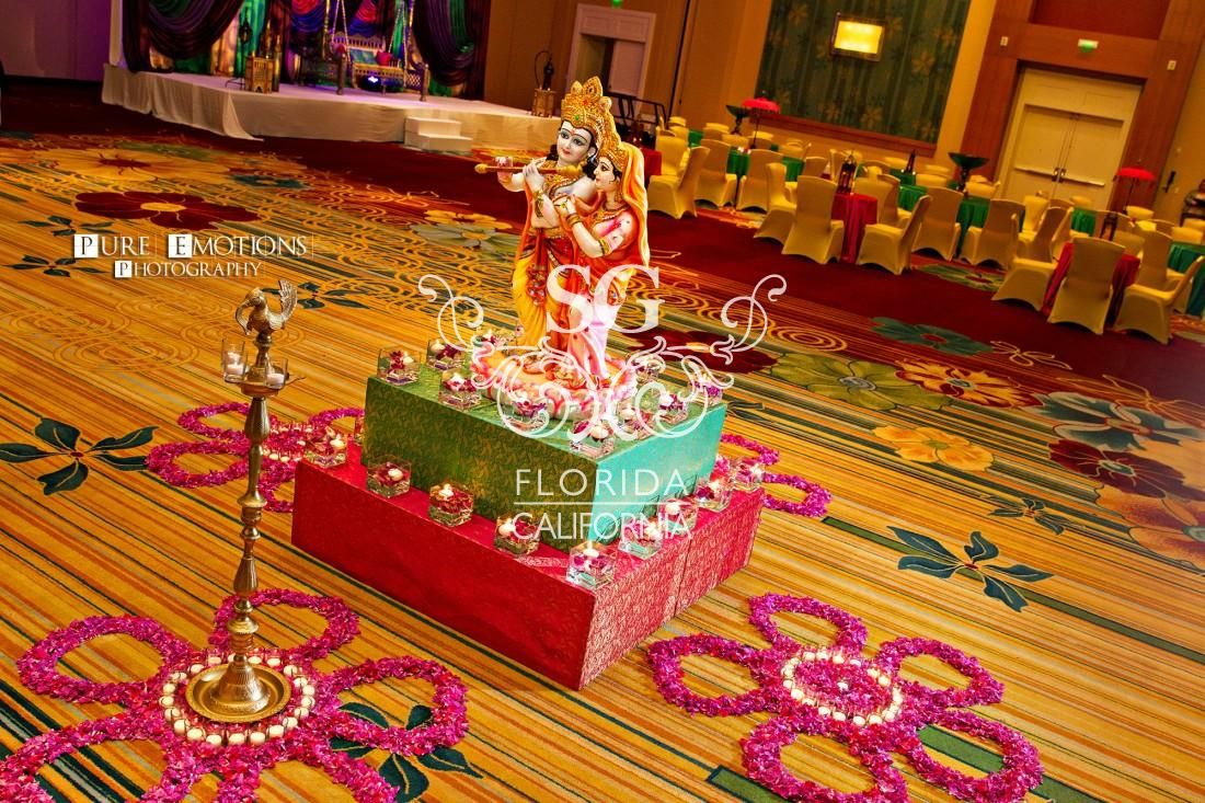 Garden wedding stage decoration  Suhaag Garden Florida Atlanta California Indian wedding decorators