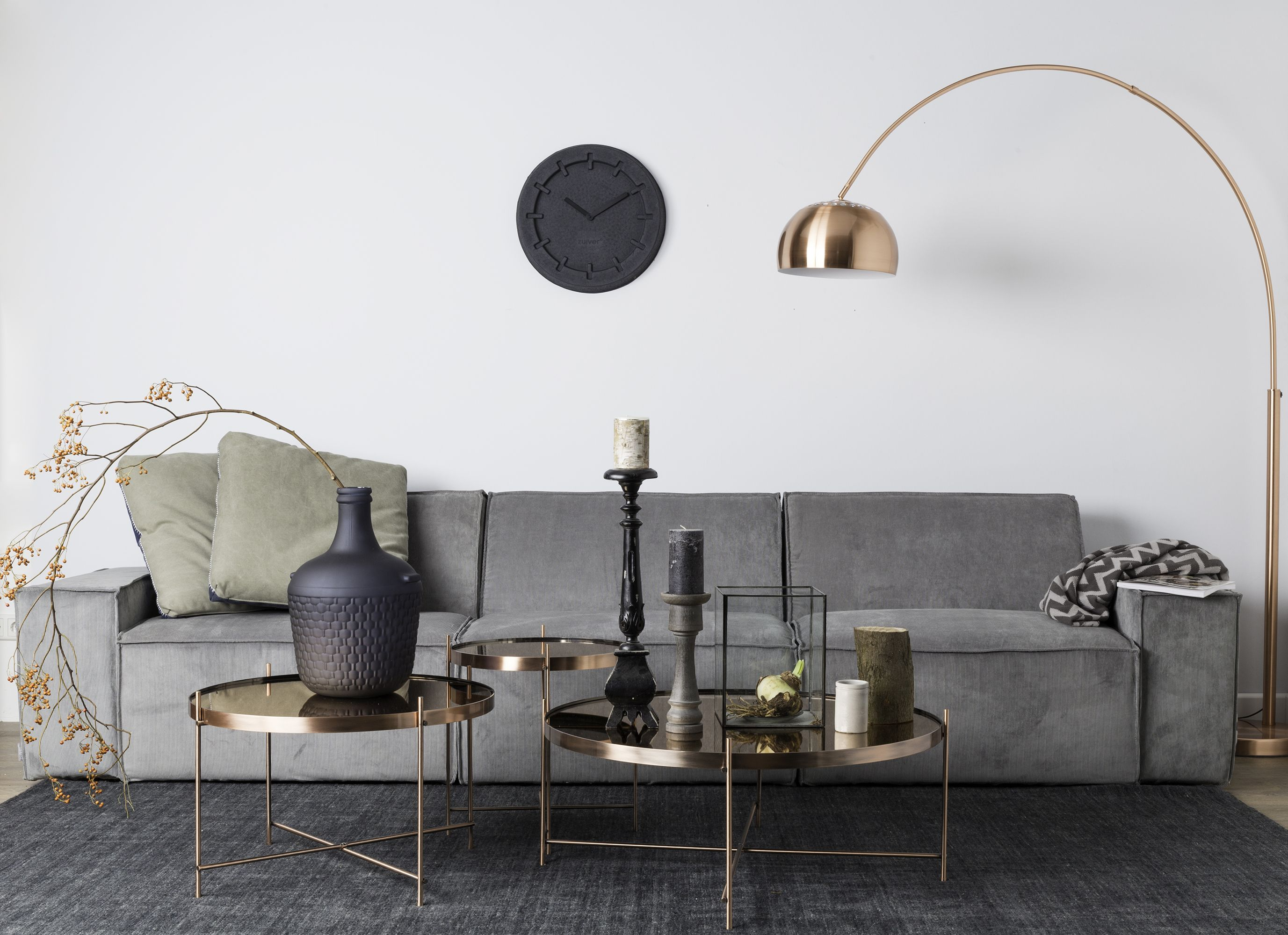Stehlampe kupfer nordic living wohnzimmer for Dekoration wohnzimmer kupfer