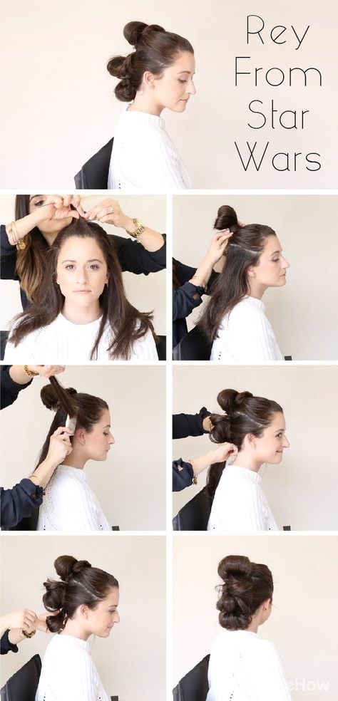 Recreate Rey S Classic Hair Style From Star Wars For Halloween Whether She S Fostering Lost Drones Piloting Th Star Wars Hair Hair Styles Star Wars Halloween