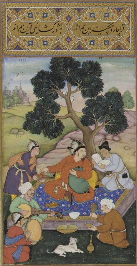 Mongol Chieftain with Attendants, from the Gulshan Album. Freer Gallery of Asian  Art, F1952.2. Courtesy of the Smithsonian Institution, Washington, DC.