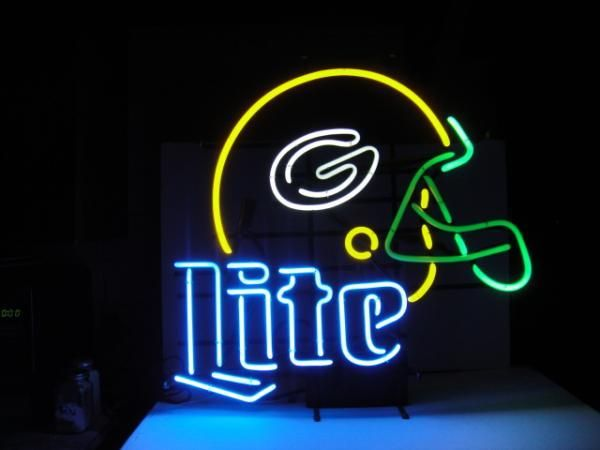 Nfl green bay packers miller lite beer bar club neon light sign 18 nfl green bay packers miller lite beer bar club neon light sign 18 x aloadofball Gallery