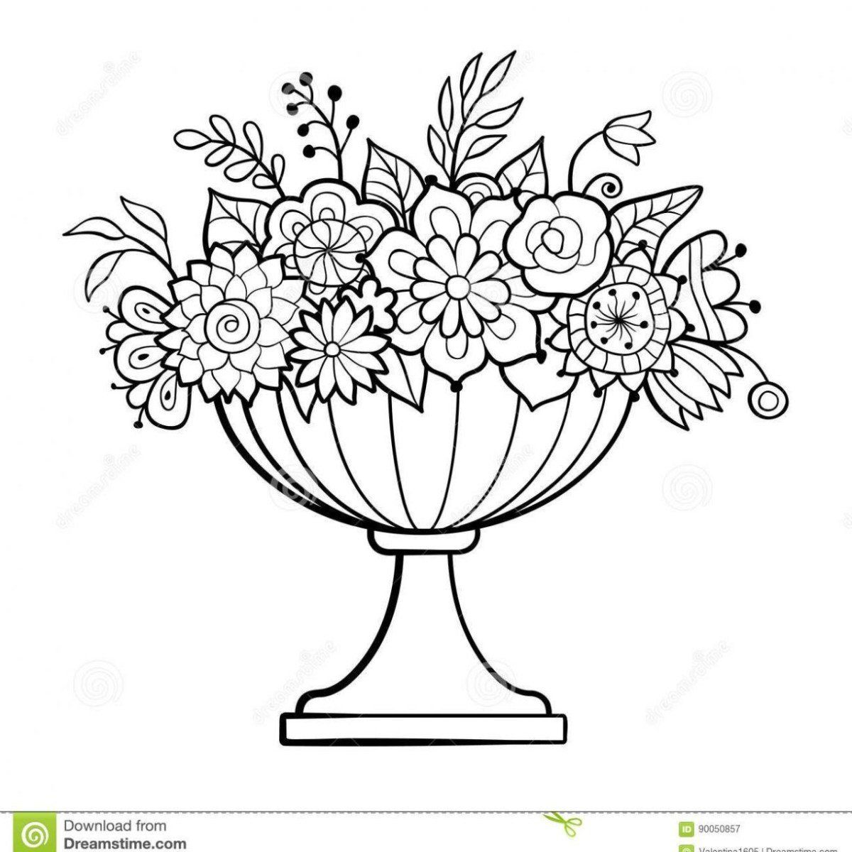 Flower Pot Coloring Page Printable Flower Pot Coloring Page Flower Pot Coloring Page In 2020 Flower Coloring Pages Bird Coloring Pages Printable Flower Coloring Pages