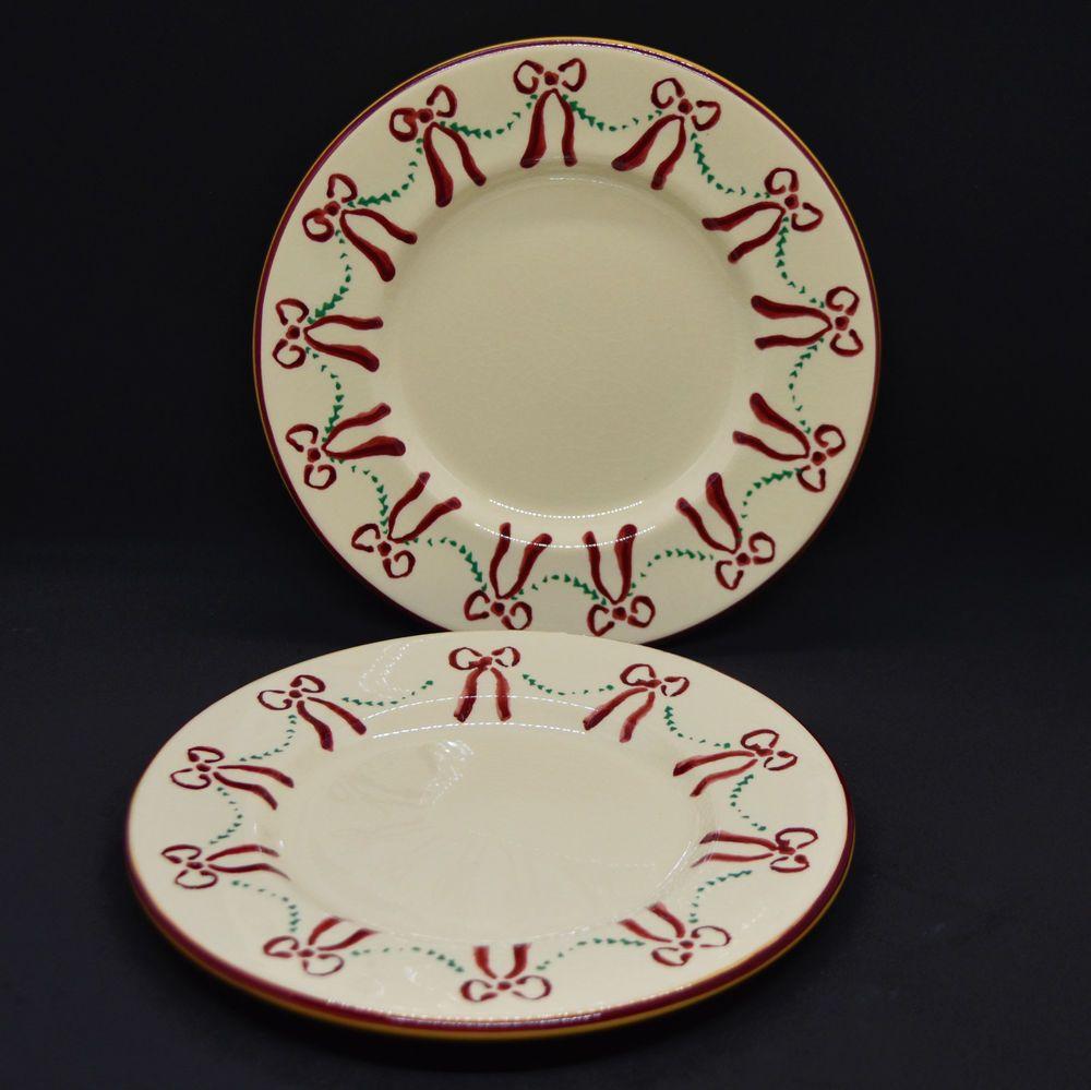 Nicholas Mosse Pottery Swag And Bow Two 7 5 Plates Christmas Holiday Ireland Nicholasmosse Christmas Nicholas Mosse Pottery Pottery Christmas Holidays