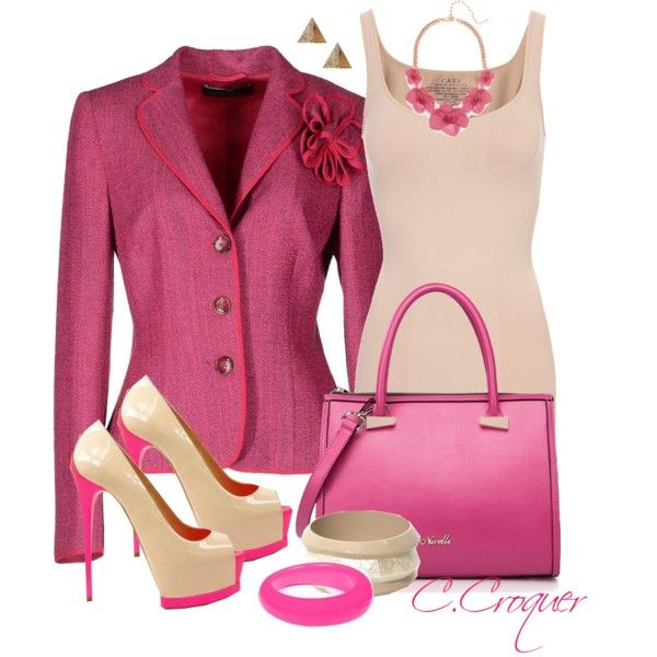 Let S Think Pink Fashion Fashion Attire Workplace Clothing
