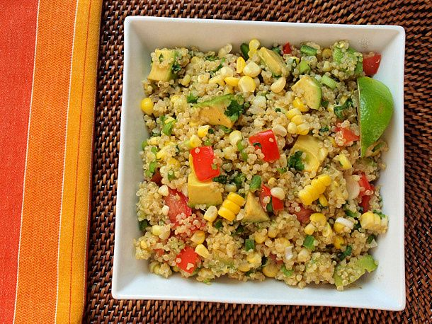 Vegan Quinoa Salad with Corn, Tomato, Avocado & Lime. Hello, new favorite dish. This is so incredibly fast, easy, and a crowd-pleaser for sure. Solid addition to the regular meal rotation.