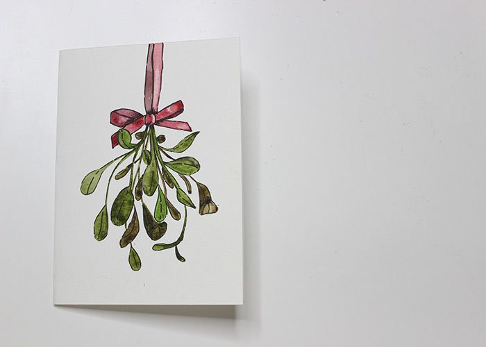 Paint With Me: Mistletoe Watercolour Christmas Card Tutorial