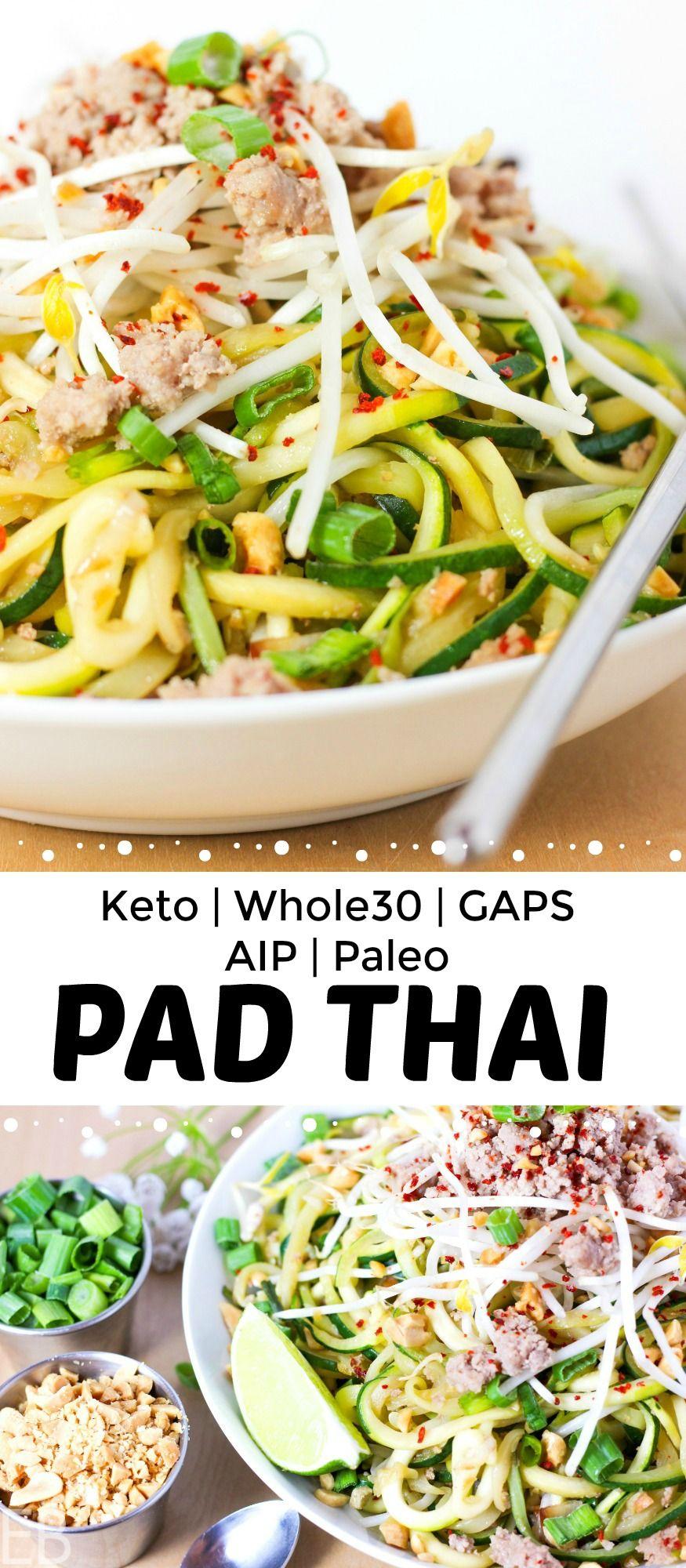Keto pad thai whole30paleogapsaip variation recipe