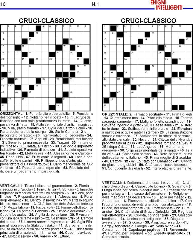 Enigmi intelligenti enigmiintelligenti for Enigmistica facile da stampare