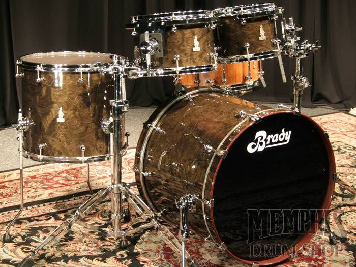 Brady Jarrah Ply Halls Creek Gloss Drum Kit At Memphis Drum Shop In Memphis Usa Percussion Instruments Drums Drum Kits