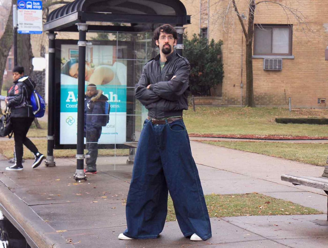 Image result for extreme baggy jeans