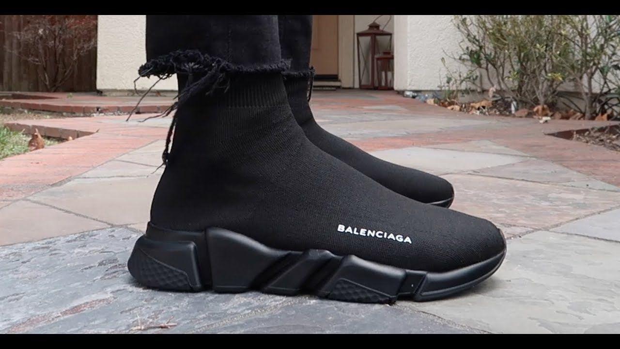TRIPLE BLACK BALENCIAGA SPEED TRAINER