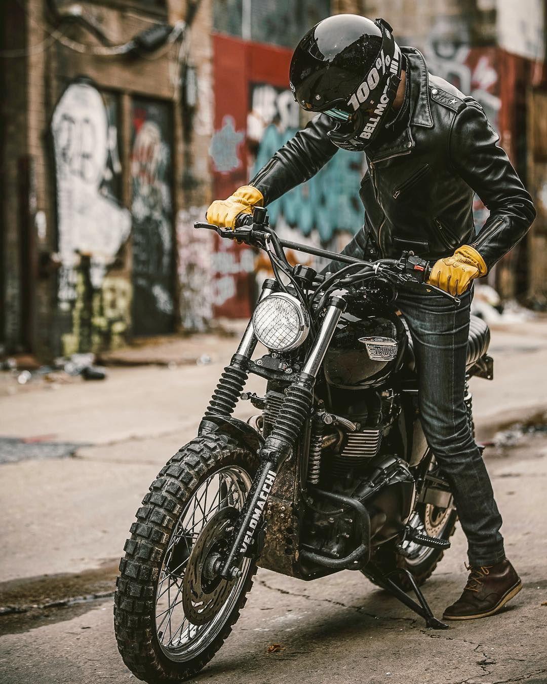 This Is How I Get On My Scrambler Incase Anyone Was Wondering Catsoutofthebag Motorrad Motorrad Mode