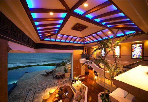 Cool Interior Decor In Luxury Tiger Woods Home In Hawaian Island, Photo Cool  Interior Decor In Luxury Tiger Woods Home In Hawaian Island Close Up View.