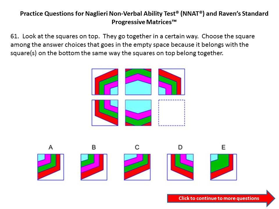 Naglieri nonverbal ability test nnat test or nnat2