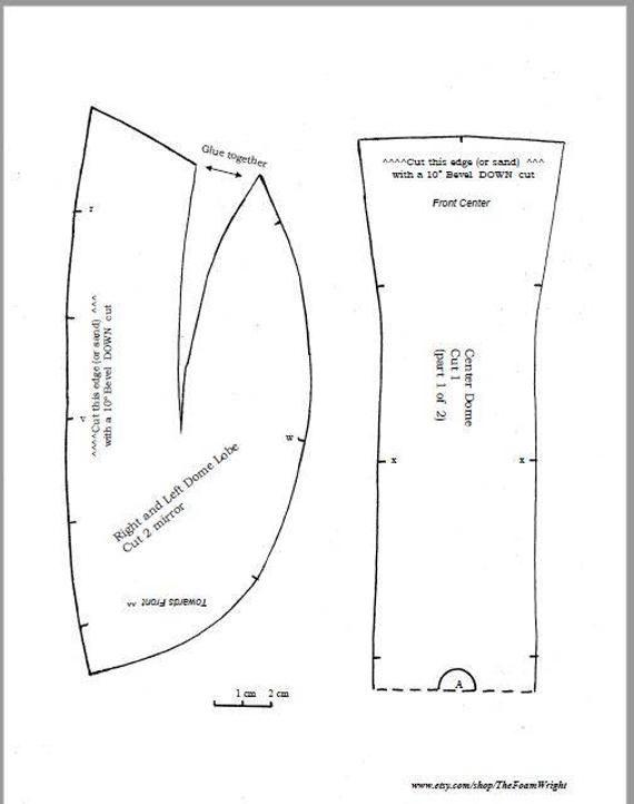 Foam Helmet Pattern : helmet, pattern, Pattern:, Simple, Mandalorian, Style, Helmet, Template, Fett,, Mandalorian,