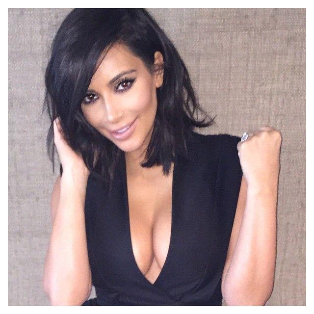 Kim Short Hair If I Ever Do That Again Short Brunette Hair Kim Kardashian Short Hair Kardashian Hair