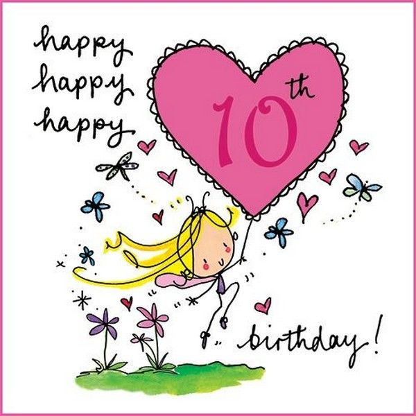 Happy 10th birthday birthday cards pinterest 10th birthday happy 10th birthday bookmarktalkfo Gallery