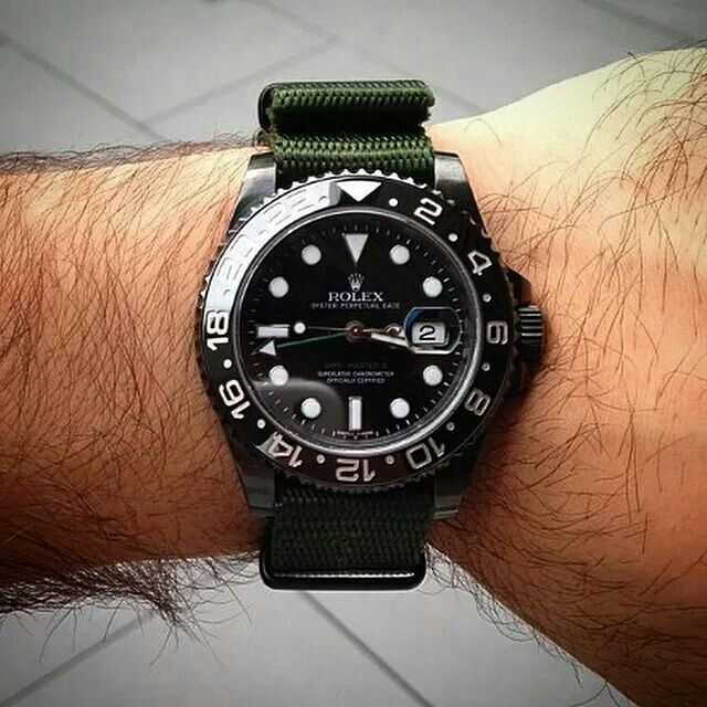 Custom Rolex GMT on NATO from the bespoke watch ...