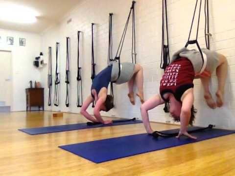 perform the kapotasana asana using ropes  youtube