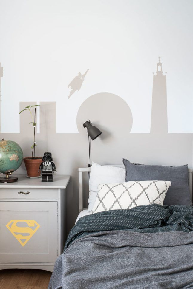 modern superhero type boys room home decor ideas Pinterest
