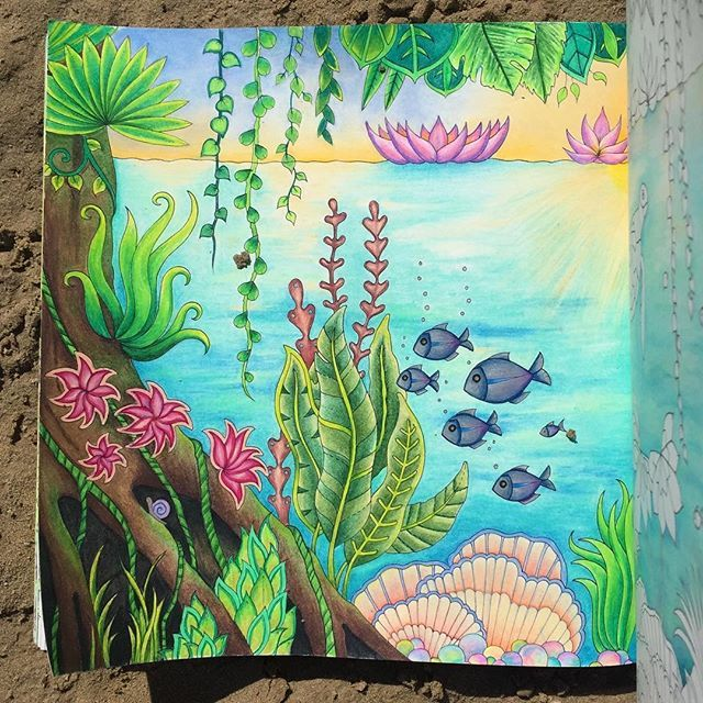 Finished Page 1 So Happy With How It Turned Out Magicaljungle Johannabasford