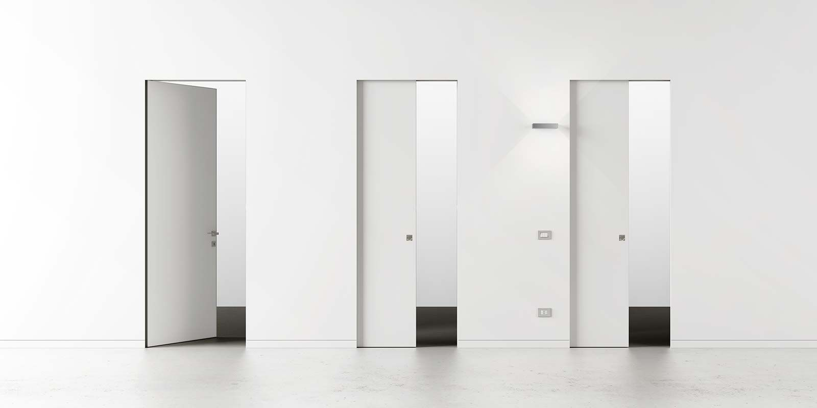 Syntesis Collection: pocket doors and hinged doors which meet the creative requirements of modern living.