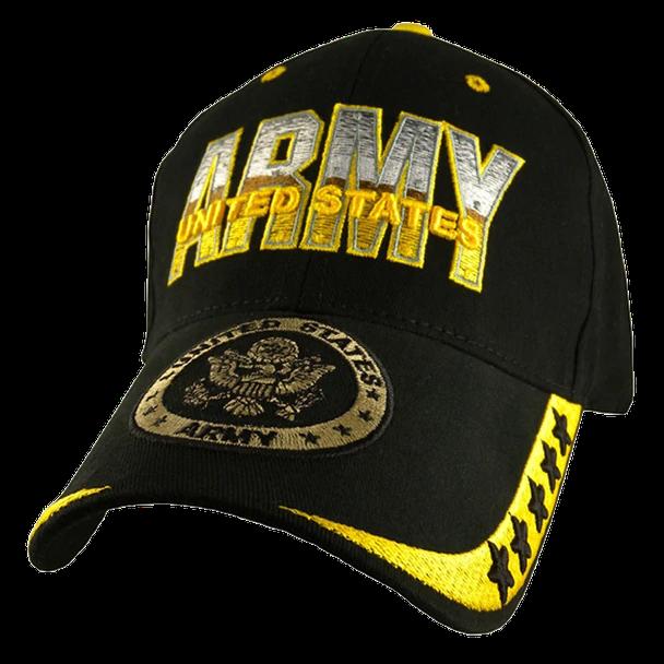 5765 U S Army Cap 5 Star Cotton Black Army Hat Army United States Army