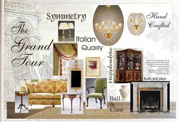 Furniture Design Presentation Board georgian drawing room