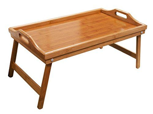 Hometown Basics Folding Bamboo Bed Tray Table High Quality Bamboo
