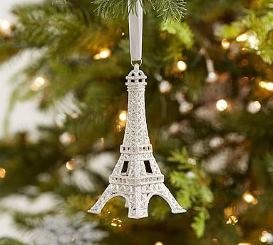 Glitter Eiffel Tower Ornament | Ornament, Christmas decor and Holidays