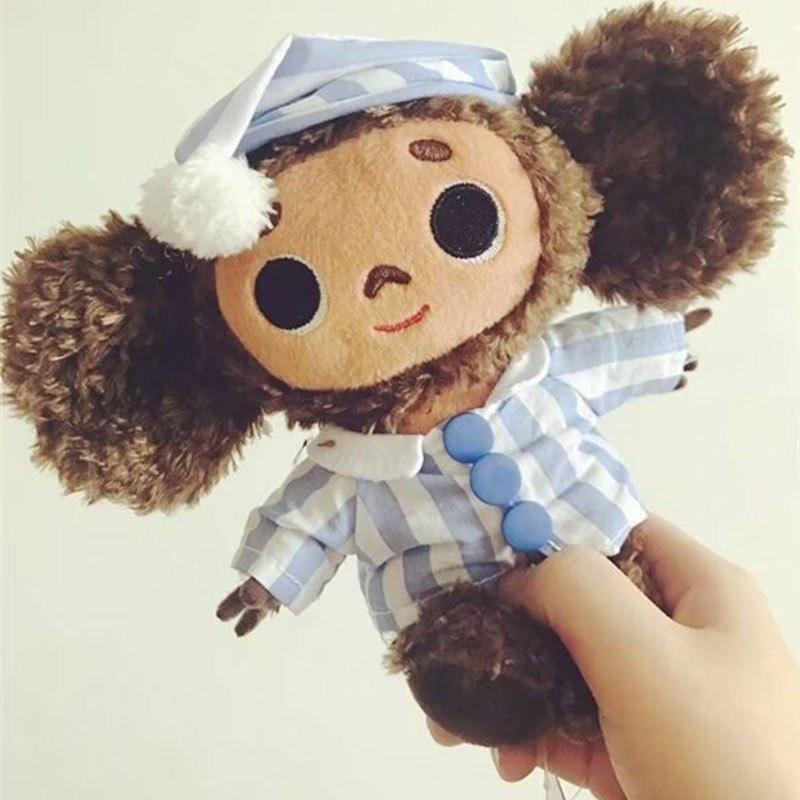 Super cute Big Eyes monkey With Hat plush toy cheburashka soft doll Anime