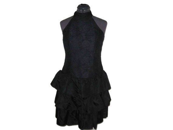 The 80s vintage tiered mini prom dress SOLD