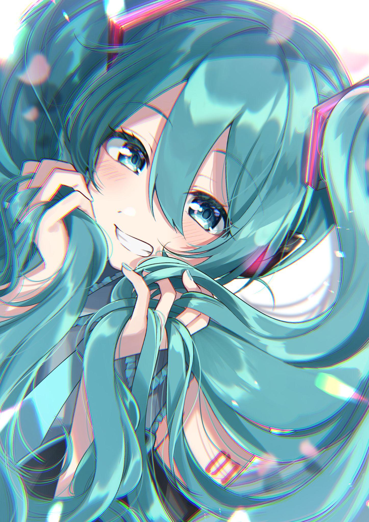 Mikus twintails vocaloid in 2020 kawaii anime anime
