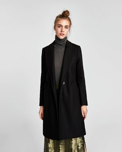 Abrigo de lana mujer zara