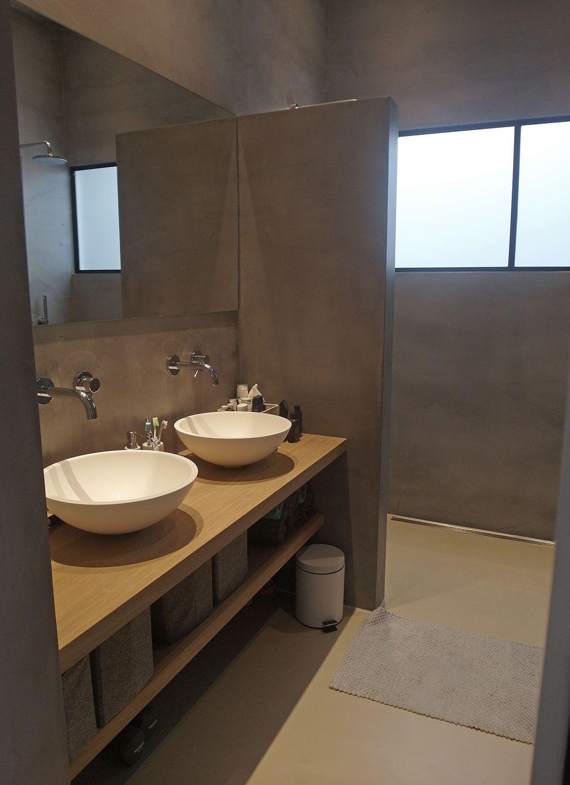 Gietvloer badkamer Amsterdam - Badkamer, Amsterdam en Badkamers