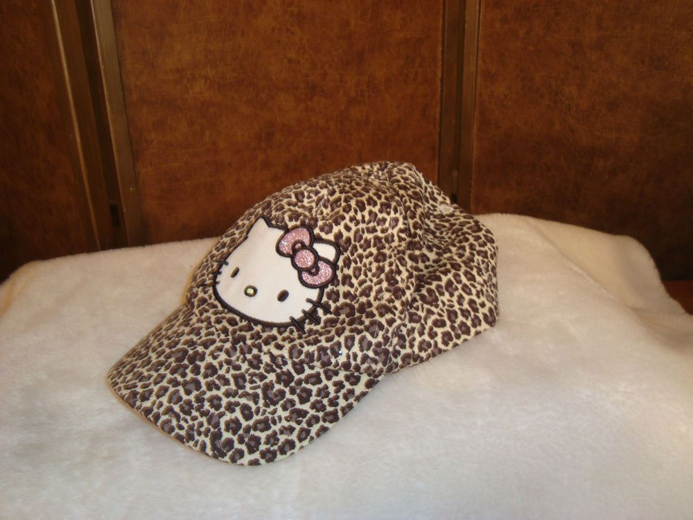 c0759d351 Authentic Hello Kitty Sz 4-6 Youth/Girls Brown Leopard Print Cap Hat  Adjustable #HelloKitty #BaseballCap