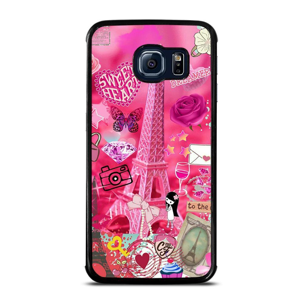 Pink Paris Cute Samsung Galaxy S6 Edge Case Casefine Samsung Galaxy S6 Edge Cases Samsung Galaxy S7 Cases Samsung Galaxy S6 Edge