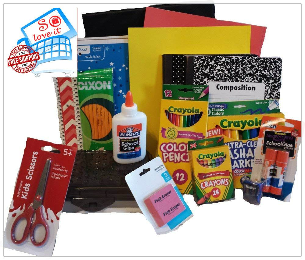 Back To School Essentials Supplies Kit Bundle K-8 Quality